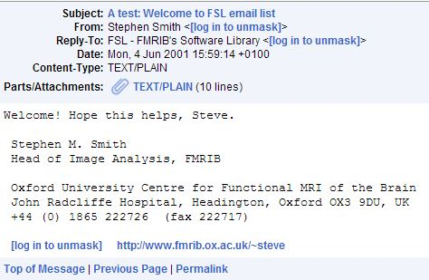 First FSL list email